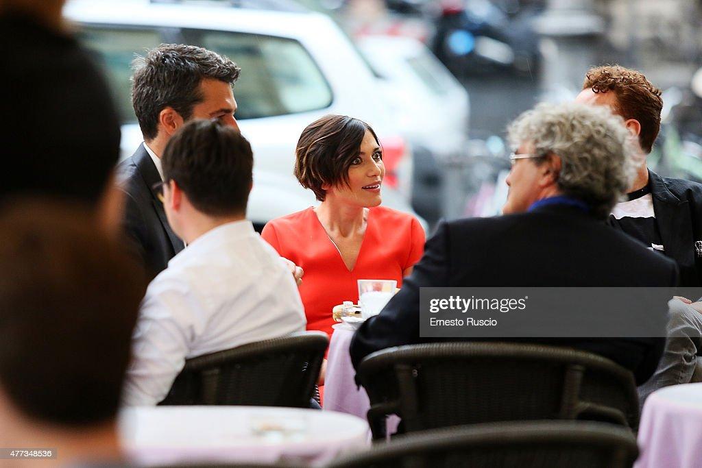 Anna Foglietta attends the 2015 Globo D'Oro at Piazza Farnese on June 16, 2015 in Rome, Italy.