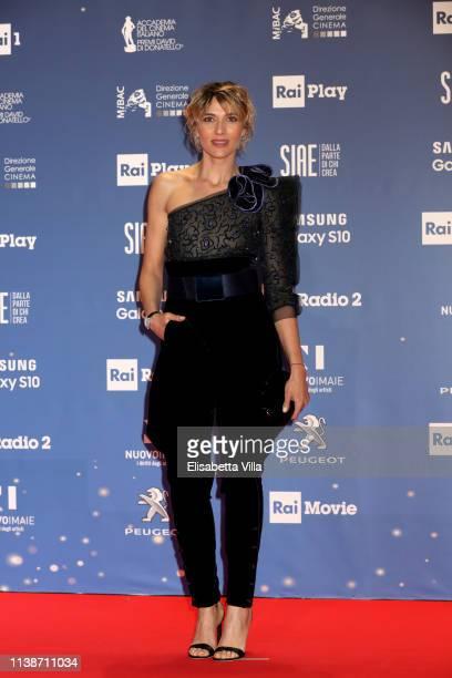 Anna Foglietta attends the 64 David Di Donatello awards on March 27 2019 in Rome Italy