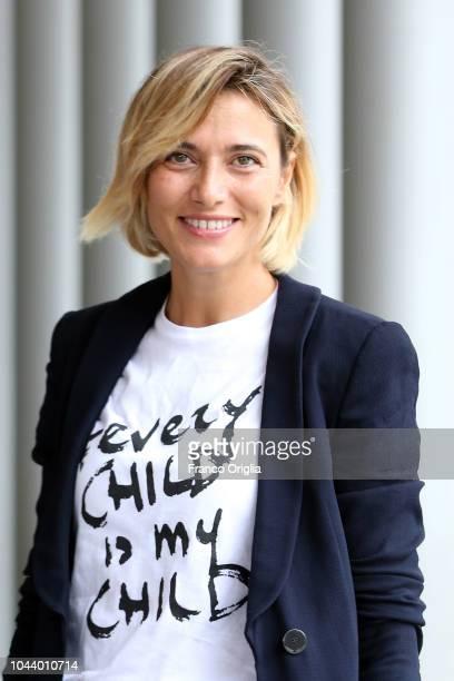 Anna Foglietta attends the Alice Nella Città Photocall at the Maxxi Museum on October 1 2018 in Rome Italy
