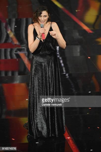 Anna Foglietta attends the fourth night of the 68 Sanremo Music Festival on February 9 2018 in Sanremo Italy