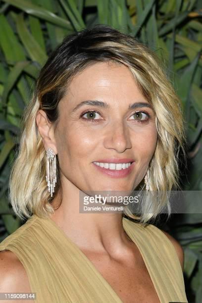 Anna Foglietta attends the Nastri D'Argento cocktail party in Taormina on June 29 2019 in Taormina Italy