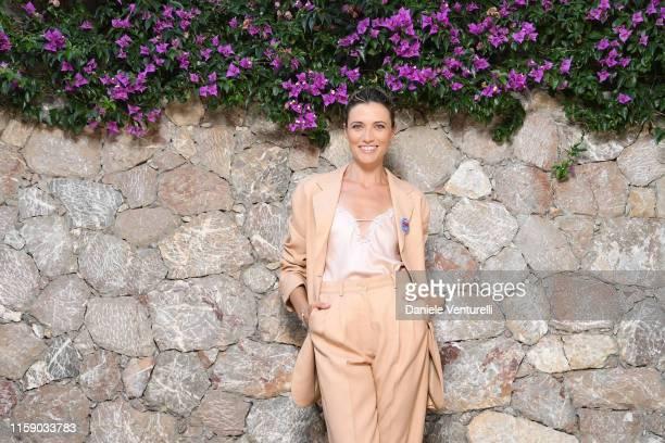 Anna Foglietta attends the Nastri D'Argento press conference in Taormina on June 29 2019 in Taormina Italy
