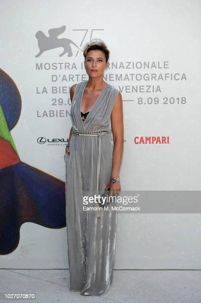 Anna Foglietta attends Un Giorno All'Improvviso screening during the 75th Venice Film Festival at Sala Darsena on September 5 2018 in Venice Italy