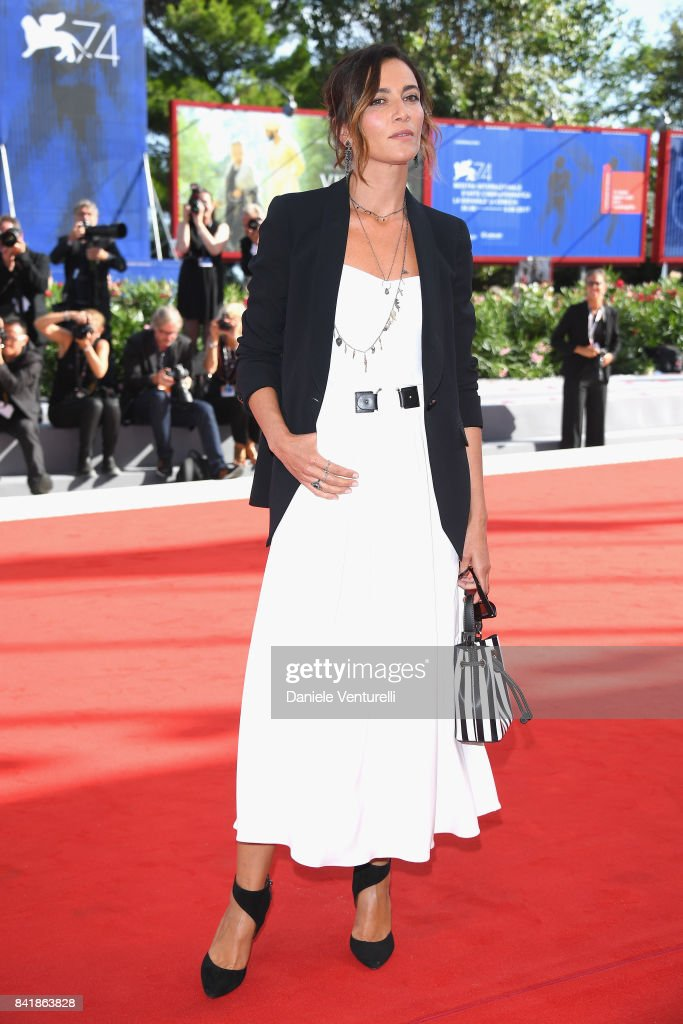 Anna Foglietta from the movie 'Diva!' walks the red carpet ahead of the 'Foxtrot' screening during the 74th Venice Film Festival at Sala Grande on September 2, 2017 in Venice, Italy.