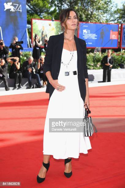 Anna Foglietta from the movie Diva walks the red carpet ahead of the 'Foxtrot' screening during the 74th Venice Film Festival at Sala Grande on...