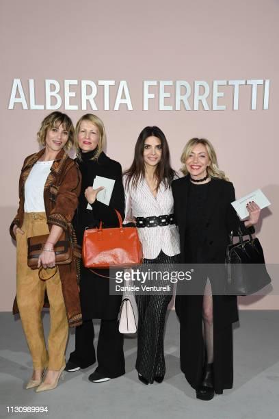 Anna Foglietta Marvi De Angelis Claudia Potenza and guest attend the Alberta Ferretti show at Milan Fashion Week Autumn/Winter 2019/20 on February 20...
