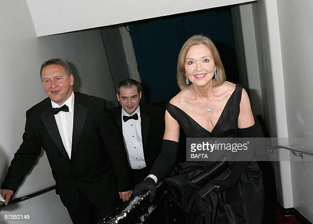 Anna Ford leaves the stage having presented the Flaherty Award For Single Documentrary award at the Pioneer British Academy Television Awards 2006 at...