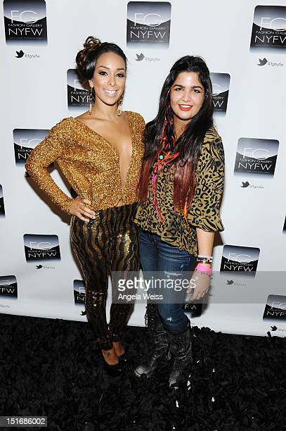 Anna Francesca and Gloria Govan attend the Anna Francesca Spring 2013 fashion show during MercedesBenz Fashion Week at Helen Mills Event Space on...