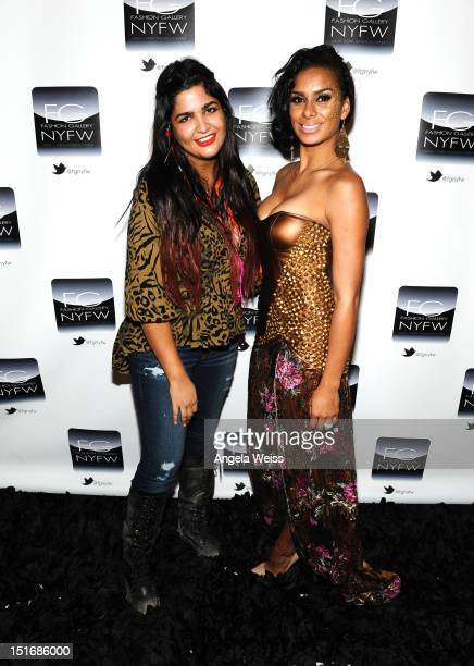 Anna Francesca and Laura Govan attend the Anna Francesca Spring 2013 fashion show during MercedesBenz Fashion Week at Helen Mills Event Space on...