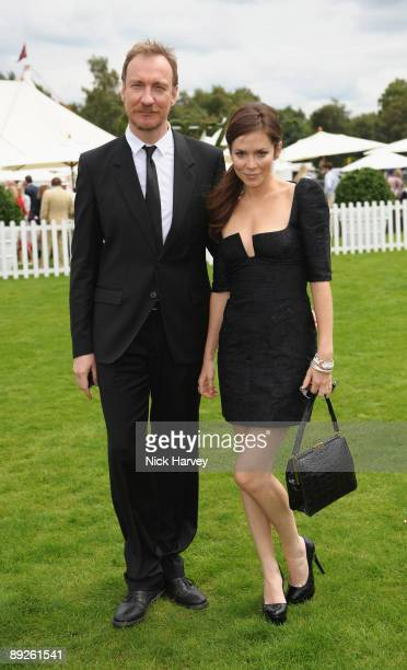 Anna Friel and David Thewlis at the Cartier tent during the Cartier Internaional Polo Day at Guards Polo Club on July 26 2009 in Egham England