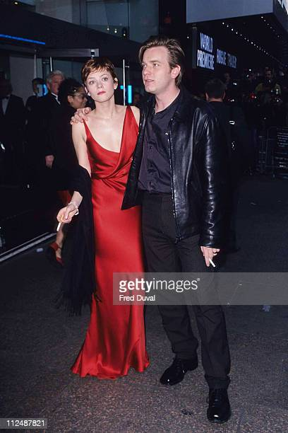 Anna Friel and Ewan McGregor during Premiere of Rogue Trader at Odeon Leicester Square in London United Kingdom
