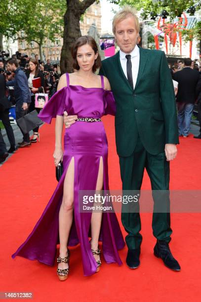 Anna Friel and Rhys Ifans attend the UK premiere of The Amazing SpiderMan at The Odeon Leicester Square on June 18 2012 in London England