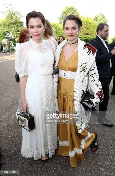 Anna Friel and Ruth Wilson attend a dinner hosted by Doutzen Kroes and Lucy Yeomans in honour of Save the Elephants at The Orangery on June 12 2017...