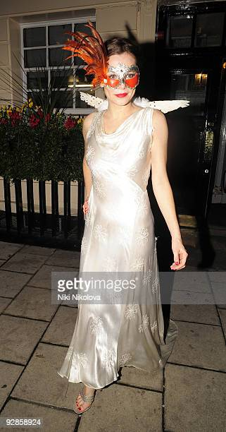 Anna Friel arrives at the Ivy Restaurant on October 31 2009 in London England