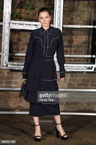 Anna Friel arrives for the Stella McCartney Resort collection and menswear launch at Abbey Road Studios on November 10 2016 in London England