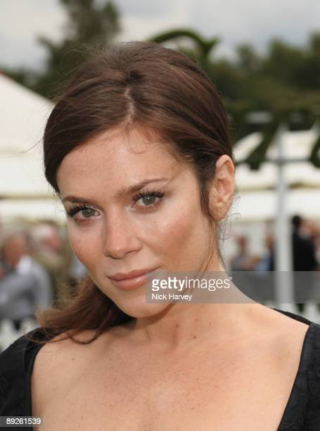 Anna Friel at the Cartier tent during the Cartier Internaional Polo Day at Guards Polo Club on July 26 2009 in Egham England
