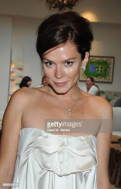 Anna Friel attends a press evening for an upcoming stage production of Breakfast at Tiffany's starring Anna Friel and Joseph Cross directed By Sean...