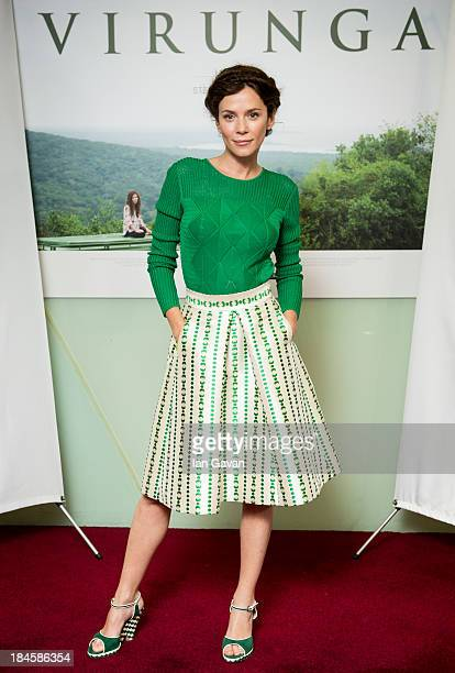 Anna Friel attends a screening of Virunga a short film about Africa's oldest national park and its wildlife at BFI IMAX on October 14 2013 in London...