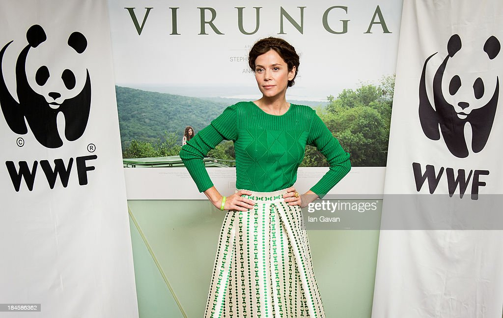 Anna Friel attends a screening of 'Virunga', a short film about Africa's oldest national park and its wildlife at BFI IMAX on October 14, 2013 in London, England.
