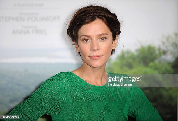 """Anna Friel attends a screening of """"Virungo"""", a short film about Africa's oldest national park and its wildlife at BFI IMAX on October 14, 2013 in..."""