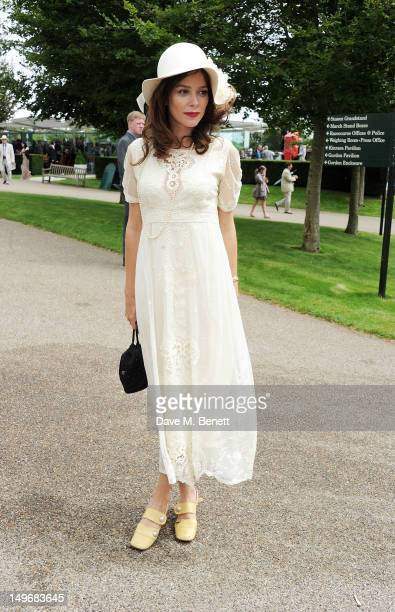 Anna Friel attends Ladies Day at Glorious Goodwood held at Goodwood Racecourse on August 2 2012 in Chichester England