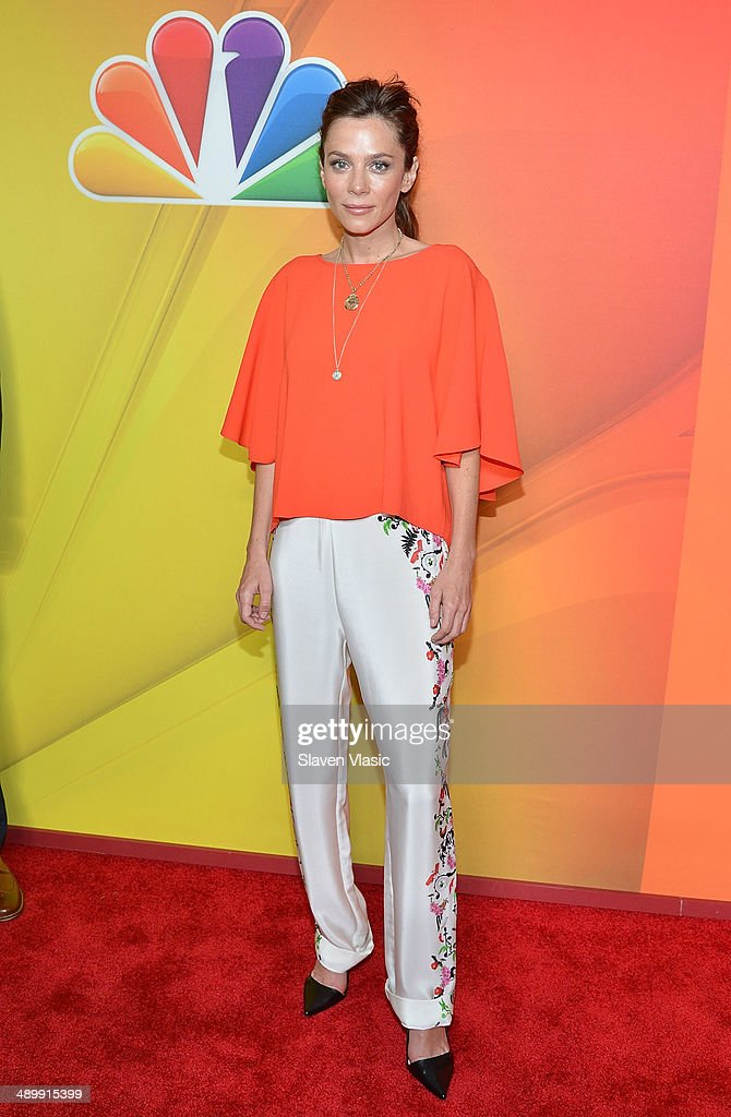 Anna Friel attends the 2014 NBC Upfront Presentation at The Jacob K. Javits Convention Center on May 12, 2014 in New York City.