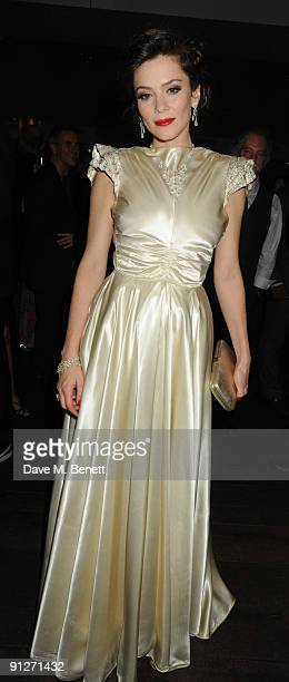 Anna Friel attends the afterparty following the press night of 'Breakfast At Tiffany's' at the Haymarket Hotel on September 29 2009 in London England