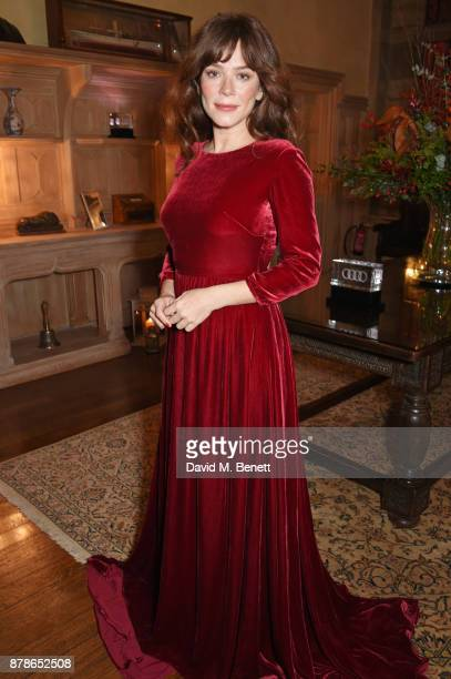 Anna Friel attends the Audi A8 Launch at Cowdray House on November 24 2017 in Midhurst England