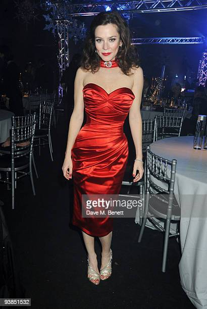 Anna Friel attends The Berkeley Square Christmas Ball held at Berkeley Square on December 3 2009 in London England