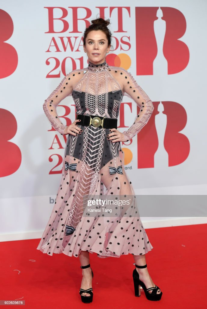 Anna Friel attends The BRIT Awards 2018 held at The O2 Arena on February 21, 2018 in London, England.