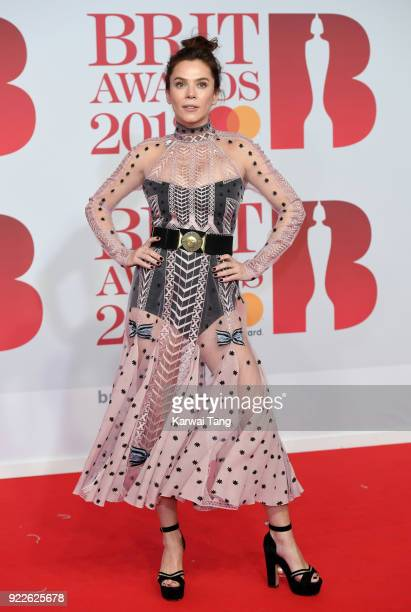 AWARDS 2018 *** Anna Friel attends The BRIT Awards 2018 held at The O2 Arena on February 21 2018 in London England