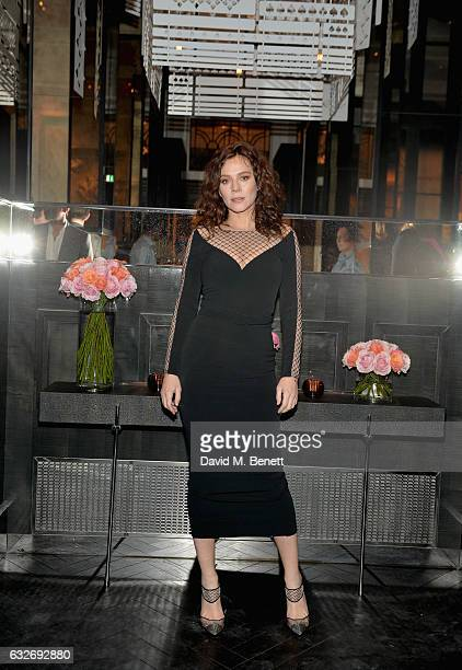 Anna Friel attends the launch of La Dame de Pic London the new restaurant from Chef AnneSophie Pic at Four Seasons Hotel London at Ten Trinity Square...