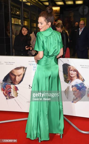 """Anna Friel attends the World Premiere of """"Sulphur And White"""" at The Curzon Mayfair on February 27, 2020 in London, England."""
