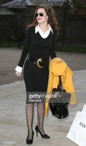Anna Friel during Anna Friel Launches Luxury Hosiery for Wolford's Autumn/Winter 2007/2008 at The Orangery Kensington Palace in London Great Britain