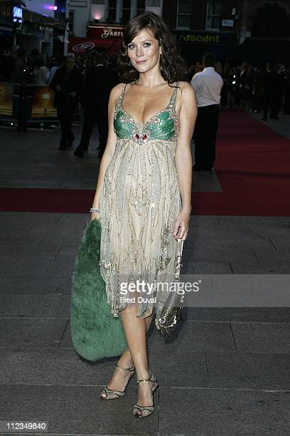 Anna Friel during 'Goal' London Premiere Arrivals at Odeon Leicester Square in London Great Britain