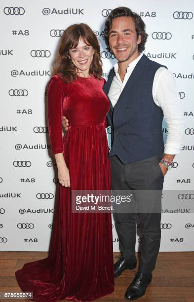 Anna Friel Jack Savoretti attend the Audi A8 Launch at Cowdray House on November 24 2017 in Midhurst England