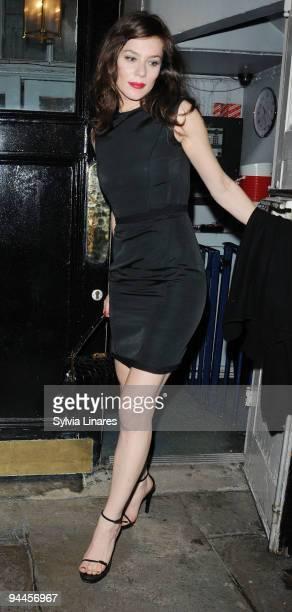 Anna Friel leaves Haymarket Theatre on December 14 2009 in London England