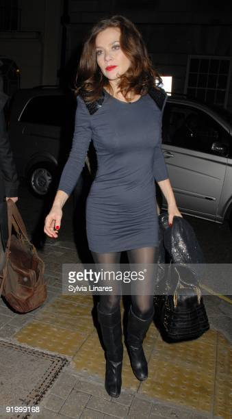 Anna Friel leaving The Royal Haymarket Theatre on October 19 2009 in London England