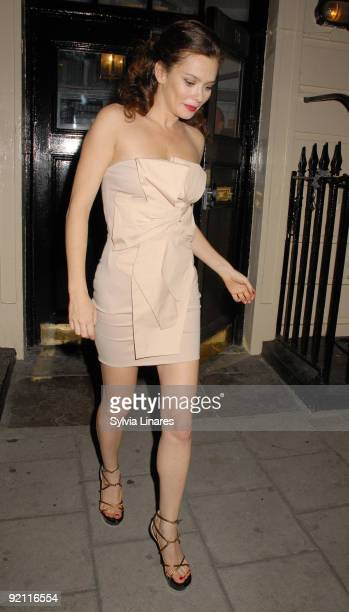 Anna Friel leaving the Royal Haymarket Theatre on October 20 2009 in London England