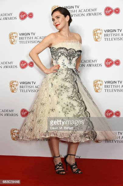 Anna Friel poses in the Winner's room at the Virgin TV BAFTA Television Awards at The Royal Festival Hall on May 14 2017 in London England