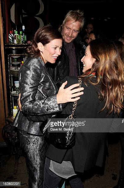 Anna Friel Rhys Ifans and Natalie Imbruglia attend a party celebrating the UK launch of Tara Smith Vegan Haircare at Sketch on September 26 2012 in...
