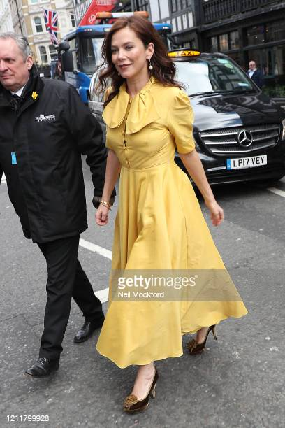 Anna Friel seen arriving for The Prince's Trust Awards at the London Palladium on March 11, 2020 in London, England.