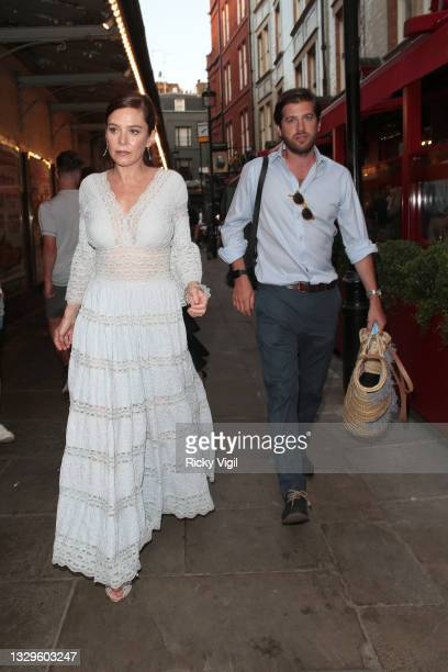 Anna Friel seen attending J. Sheekey 125th anniversary party on July 19, 2021 in London, England.