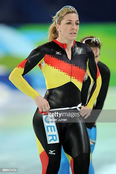 Anna FriesingerPostma of Germany competes in the women's speed skating 1000 m final on day 7 of the Vancouver 2010 Winter Olympics at Richmond...
