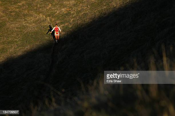 Anna Frost competes in the GORETEX 50 Mile Race in The North Face Endurance Challenge on December 3 2011 in San Francisco California The 50 mile race...