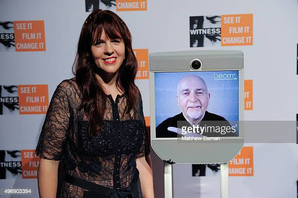 Anna Gabriel and Peter Gabriel attend the 2015 'Focus For Change' benefit dinner at ArtBeam on November 12 2015 in New York City
