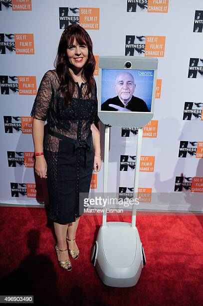 Anna Gabriel and Peter Gabriel attend the 2015 Focus For Change benefit dinner at ArtBeam on November 12 2015 in New York City