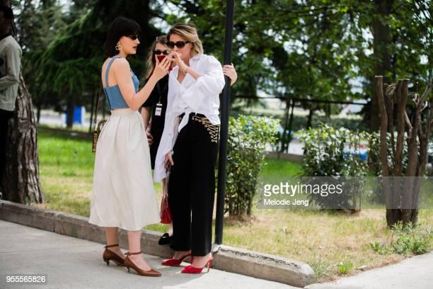 Anna Gagua Nina Zarqua at ercedesBenz Fashion Week Tbilisi FW18 on May 4 2018 in Tbilisi Georgia