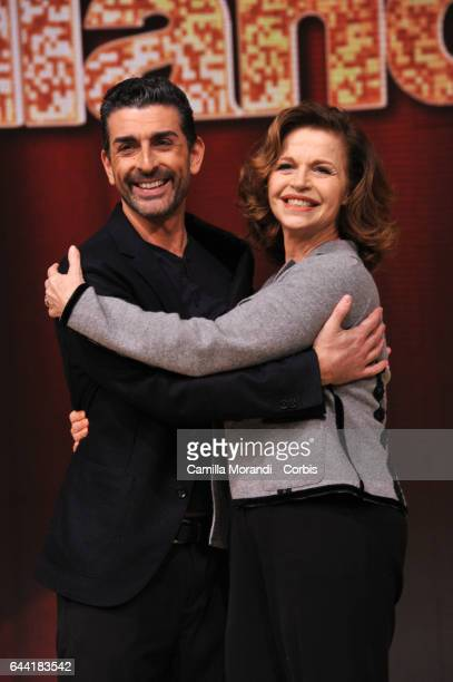 Anna Galiena and Simone Di Pasquale attend 'Ballando Con Le Stelle' Press Conference In Rom on February 23 2017 in Rome Italy