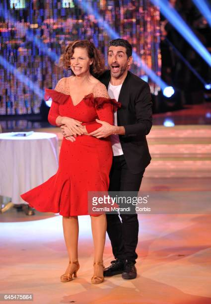 Anna Galiena and Simone Di Pasquale attends'Ballando Con Le Stelle' Tv Show on February 25 2017 in Rome Italy